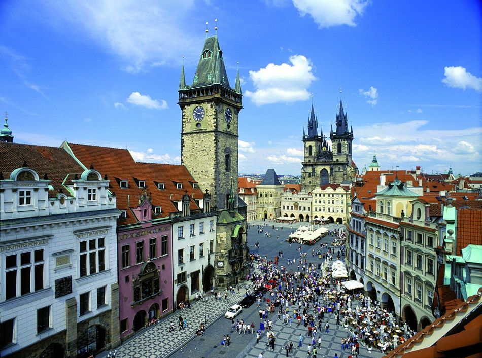 Prague old town square panorama opt