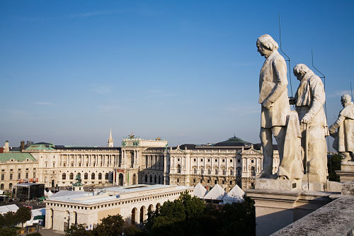 Vienna Rooftop view of the Hofburg Palace 6306 opt