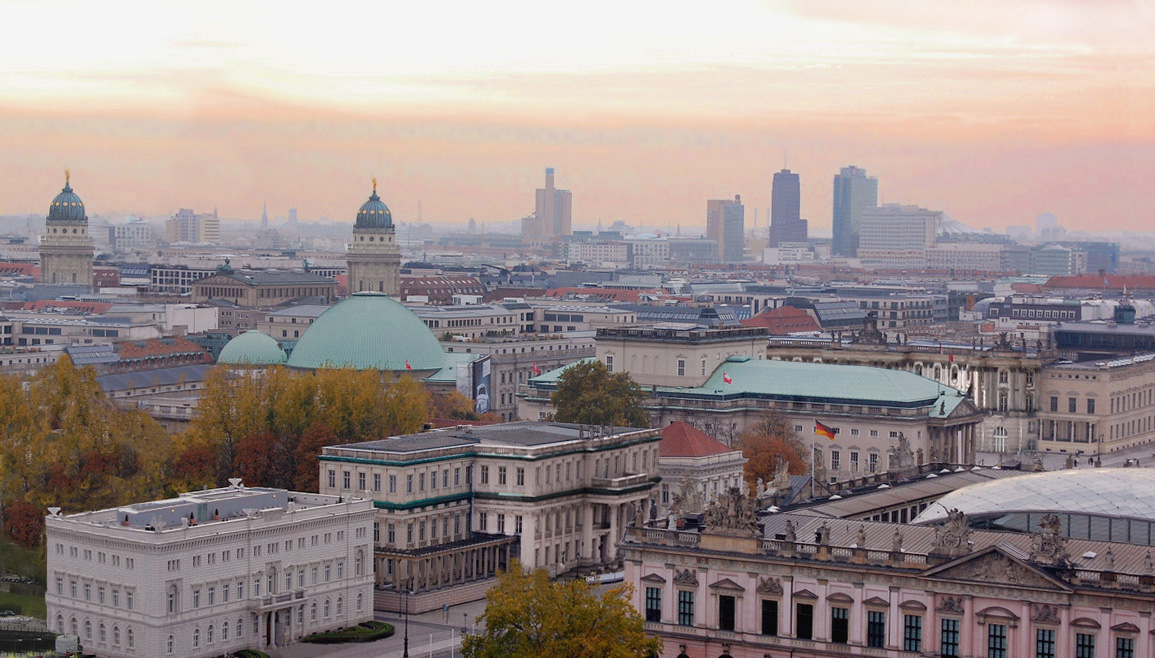 cityscape skyline view berlin germany